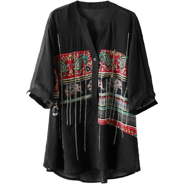 Plus Size Women Spring Summer Chiffon Blouses Shirts Lady Casual Short Sleeve Turn-down Collar Chiffon Blusas Tops DD8913 4