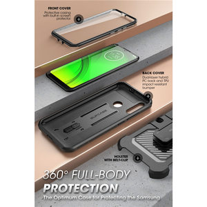 Image 3 - SUPCASE For Moto E6 Plus Case (2019 Release) UB Pro Full Body Rugged Holster Protective Back Case with Built in Screen Protector