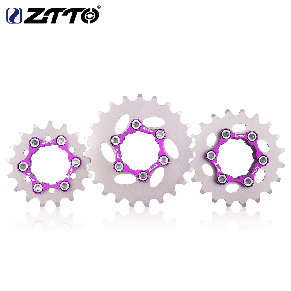 ZTTO MTB Single Speed Cassette Single Cog Gear 16T 17T <font><b>18T</b></font> 19T 20T 21T 22T 23T Freewheel K7 Cassette Bicycle BMX <font><b>Sprocket</b></font> image