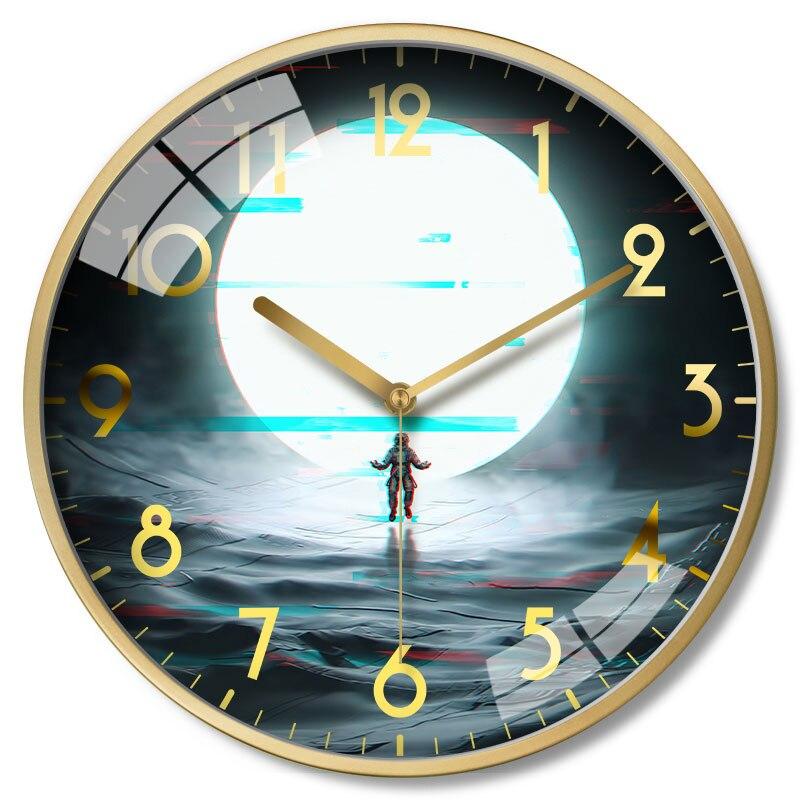 US $40.33 55% OFF|Metal Large Wall Clock Nordic Creative Silent Clocks Wall  Home Decor Watch Art Modern Kitchen Clock Horloge Murale Gift FZ124 on ...