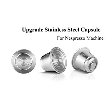 Nespresso Refillable Capsule Stainless Steel Coffee Inox Cafe Permanent Filter Tamper Coffeeware For Machines