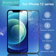 KUULAA Screen Protector For iPhone 12 Pro Max 12 Mini Tempered Glass HD Clean Full Cover Protective Glass Anti-Glare Front Film