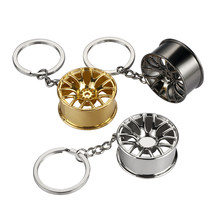 Metal Creative Car Wheel Rim Keychain Key ring for audi a4 megane 3 tucson renault clio 2 alfa romeo 159 audi megane 2(China)