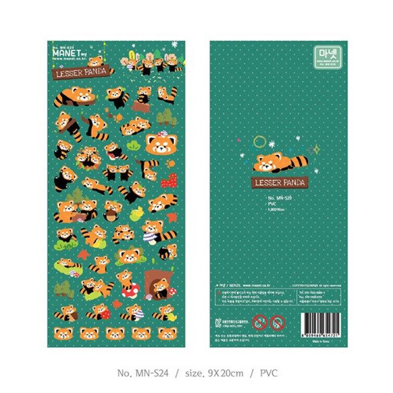 Lesser Panda Civet Cat Bullet Journal Cartoon Decorative Stationery Stickers Scrapbooking DIY Diary Album Stick Label