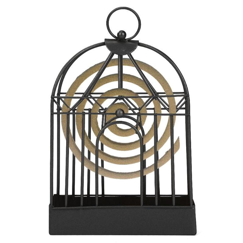 Retro Old Mosquito Incense Rack Work Exquisite Wrought-Iron Portable Fashionable Anti Slip Home Decorations 20.5x12.8x4.3cm(China)
