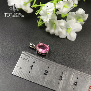 Image 5 - Natural Colorful Tourmaline Pendant necklace ,opal pendant necklace 925 sterling silver fine jewelry for women tbj jewery 2020