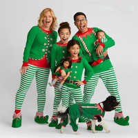 Xmas Sleepwear Family Matching Clothes Mother Daughter Baby Girl Boy Santa Claus Men Kids Adult Christmas Pajamas Baby Rompers