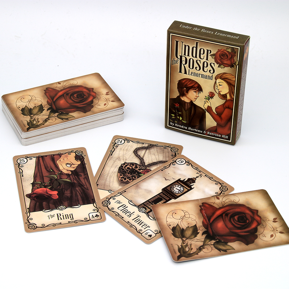 Under The Roses Lenormand  Offers Keywords Instructions And Diagrams For Learning To Read With The Lenormand Method