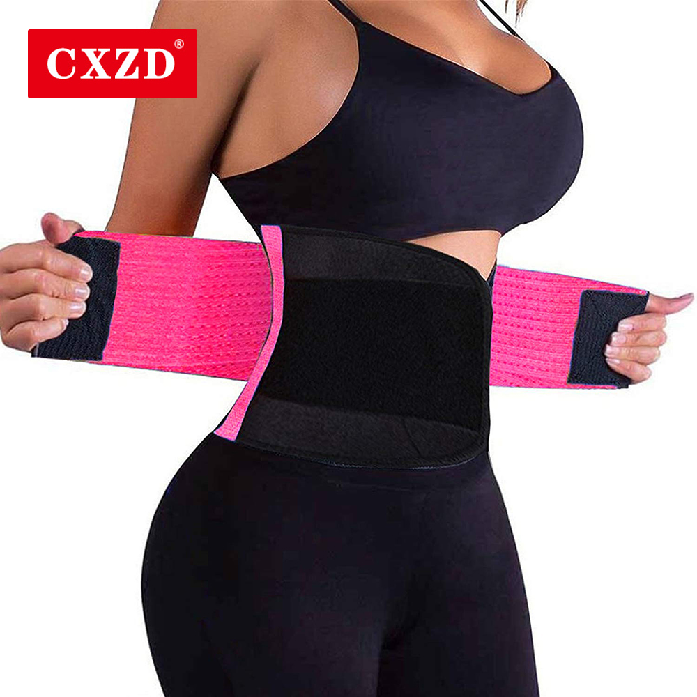CXZD Women Waist Trainer Breathable Sweat Belt Cincher Body Shaper Girdle Fat Burn Belly Slimming Band For Weight Loss Fitness