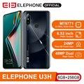 ELEPHONE U3H Helio P70 Octa Core Smartphone 8GB 256GB 6.53 FHD+ Screen 48MP Dual Rear Cam 24MP Selfie Face Unlock Android 10