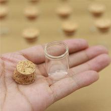 100 unids/lote 22*30mm 5 Mini vaso de ml botella de tubo de ensayo de tapón de corcho de botellas pequeñas DIY frascos Vial pequeño botellas de vidrio