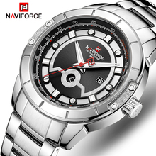 цена на NAVIFORCE Brand Men Watches Luxury Sport Quartz Watches Men's Stainless Steel Waterproof Wristwatches Relojes Relogio Masculino