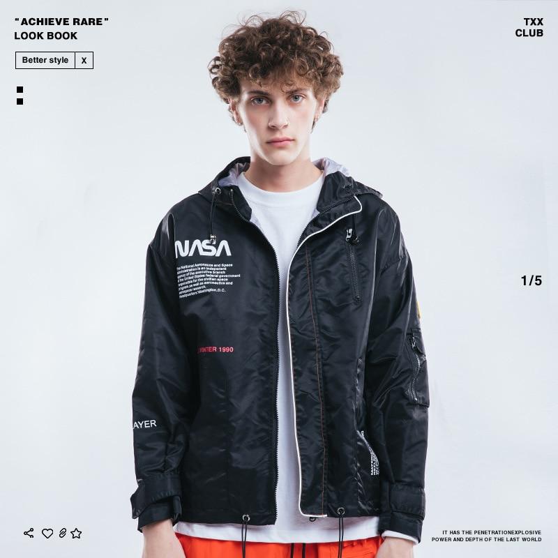 2018 Europe And America Popular Brand Autumn And Winter Men'S Wear NASA American Flag Waterproof Windcheater Men Jacket Coat