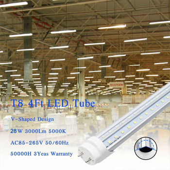 guxen 4ft led tubes 22w 28w t8 led tube lamp 1200mm ac90 260v single double row 2835 led lamp 2 years warranty ce rohs 4PCS/25PCS 1.2M/4FT T8 G13 Led Tube Light 220V 110V 22W 28W 60W LED Fluorescent Tube Replacement AC85-265V Super Bright Led Lamp