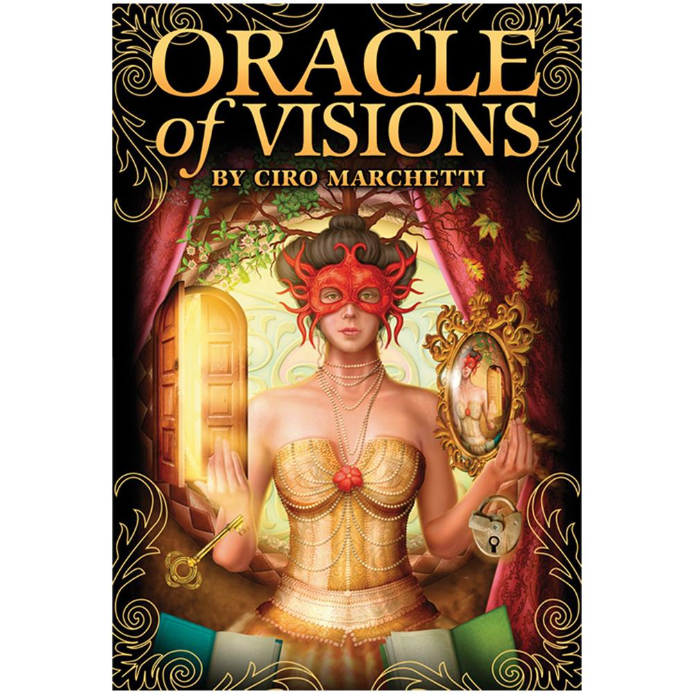 52pcs Tarot Cards Oracle Cards Of Visions Tarot Deck For Teen Fun Table Card Board Games Lovers Party Playing Card Entertainment
