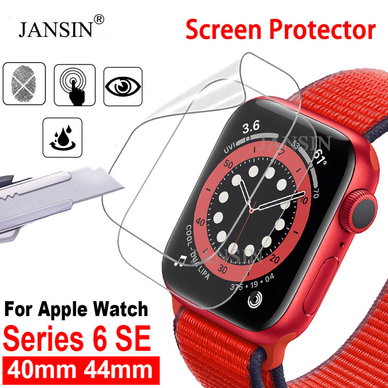 Full Cover Screen Protector Hydrogel Film For Apple Watch Series 6 40MM 44MM Soft Film For Apple Watch SE 40 44mm Protector film