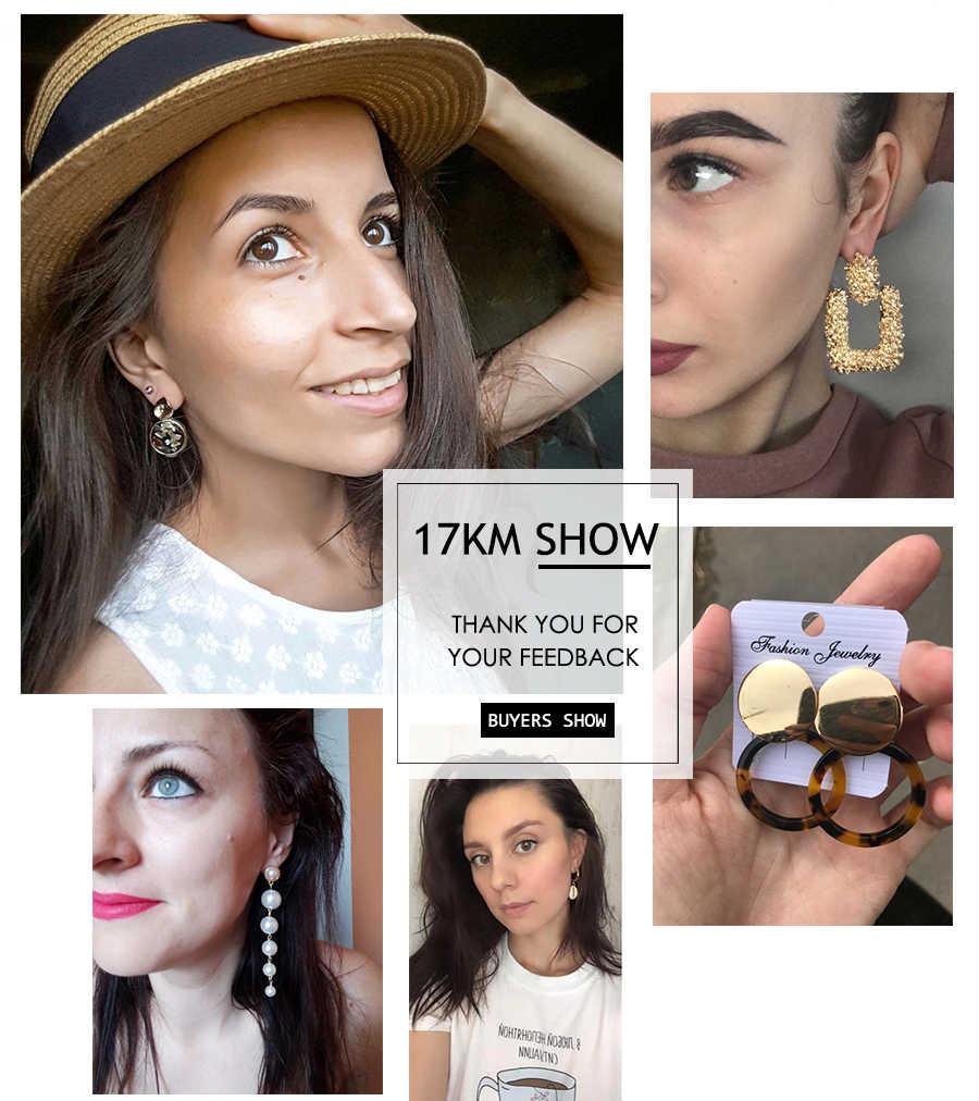 moda kolczyki złoty spadek kolczyki dla kobiet okrągły powłoki akrylowe geometryczne kolczyki Brincos etniczna biżuteria w stylu