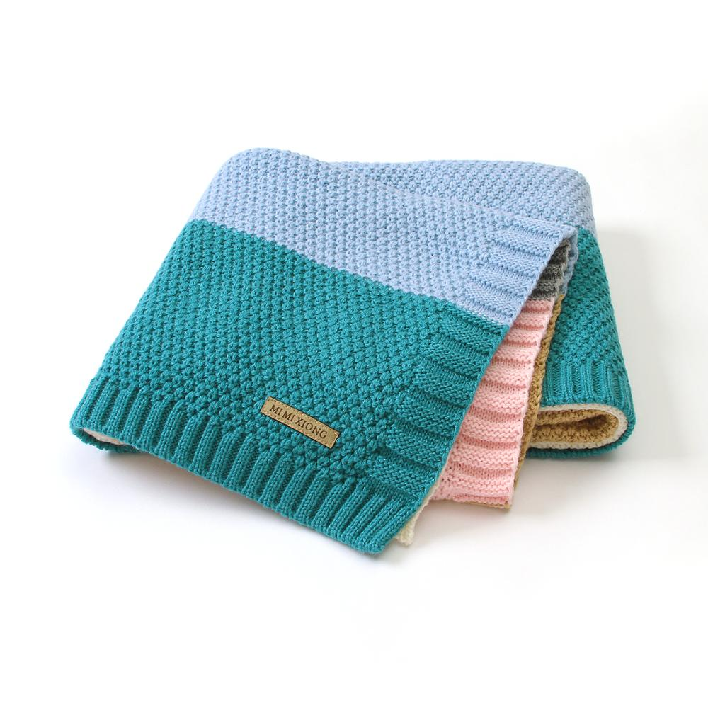 Baby Blankets Knitted Newborn Winter Swaddle Wrap Envelopes For Stroller Bedding Blankets 100*80cm Infant Soft Warm Sleep Covers