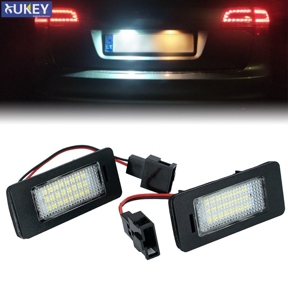 2Pcs Canbus Auto Light Led License Plate Light Tail Light Fit for Audi A1 A4 B8 4D 5D A5 S5 2D 5D A6 S6 For VW Golf Passat