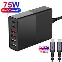Зарядное устройство urvns с портом usb type c и поддержкой быстрой