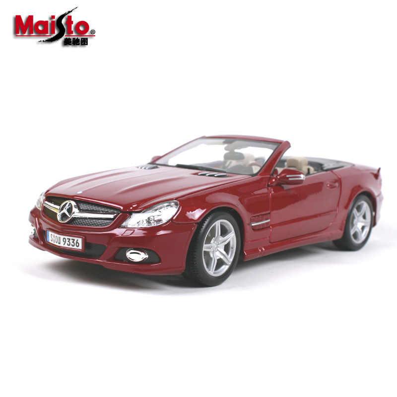 Maisto 1:18 Mercedes Sl 550 Auto Legering Model Auto Simulatie Auto Decoratie Collection Gift Toy Spuitgieten Model Jongen Speelgoed