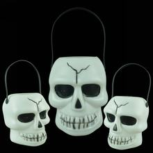 NEW! skull Pumpkin Light Horror Ghost Props Halloween Party Decoration Hanging Ghost Pendant Props Decor Novelty Trick toy(China)