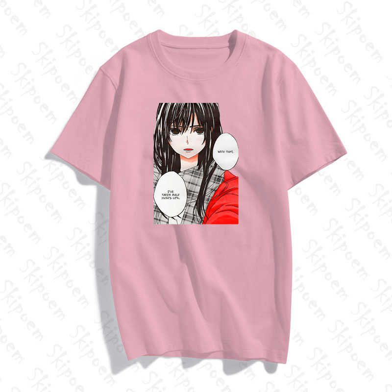 Citrus Anime T Shirt Women Vintage Kawaii Korean Style Aesthetic Harajuku Casual 8 Colors Cotton Short Sleeve Streetwear Clothes T Shirts Aliexpress