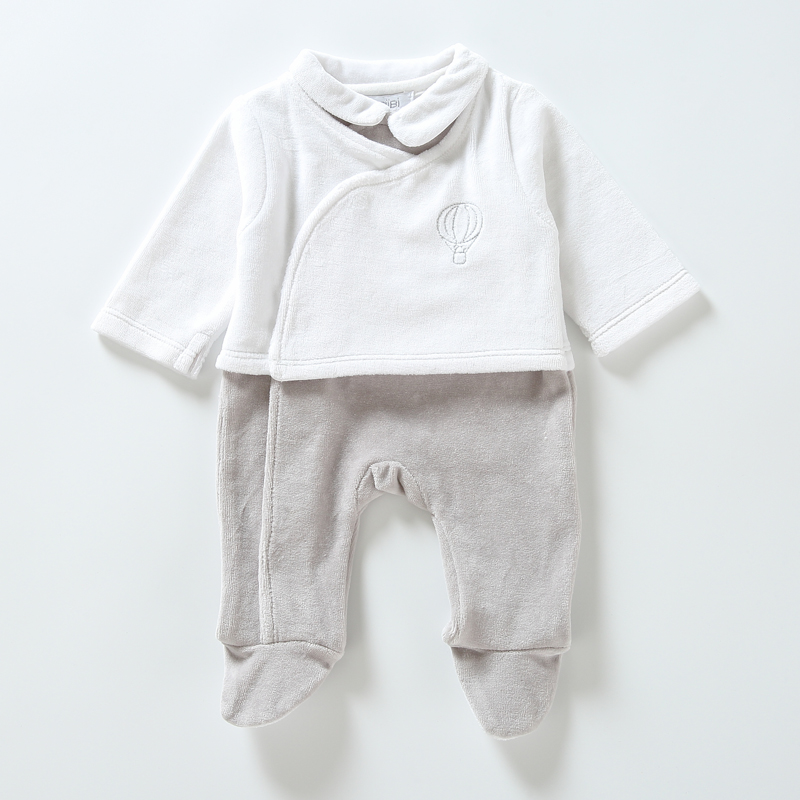 Baby Romper Newborn Clothes Long Sleeves Kids Clothesbaby Overalls Baby Boy Girls Clothes Two Colors Sdie Opening Footies Romper