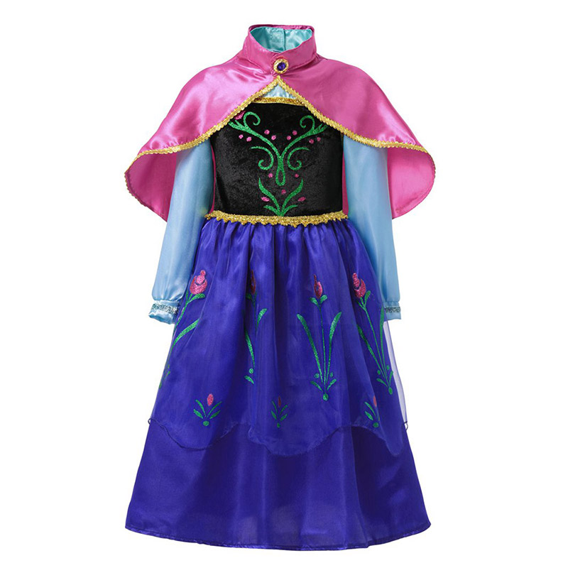 Ha4aede9b0c0a4766947f6d7fb4ee1f4ev - Fancy Baby Girl Princess Clothes Kid Jasmine Rapunzel Aurora Belle Ariel Cosplay Costume Child Elsa Anna Elena Sofia Party Dress