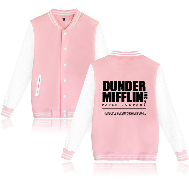 DUNDER MIFFLIN THEMED BASEBALL JACKET (20 VARIAN)