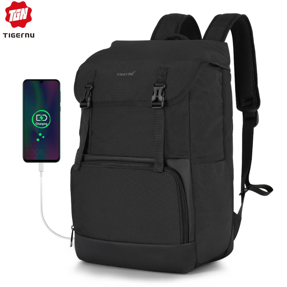 2020 Tigernu New Large Capacity Travel Backpack Men High Quality Waterproof 15.6inch Laptop School Backpack Bags USB Male Female