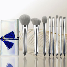 New 8 Silver Xiaomanwaist Series Cosmetic Brush Moonlight Silver Cosmetic Brush Set Xiaomanwaist Cosmetic Brush Tool
