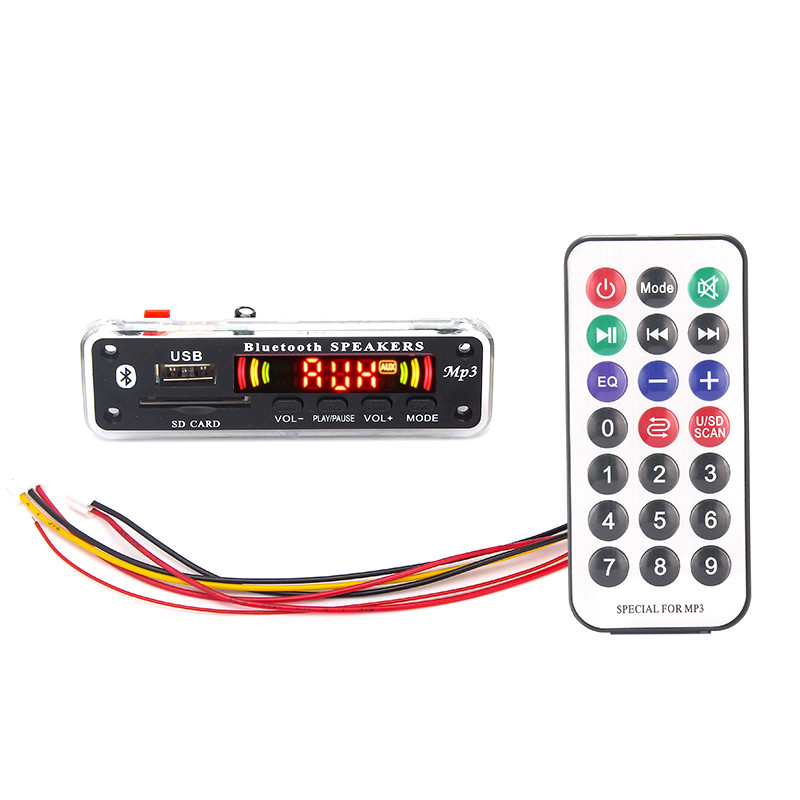 5V-12V Car fittings mp3 player Bluetooth MP3 decoder board MP3 card reader MP3 Bluetooth module audio accessories with FM radio(China)
