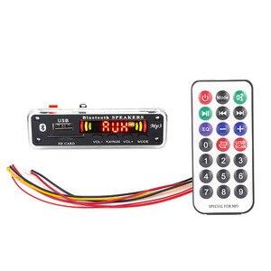 Image 1 - 5V 12V samochodowy armatura samochodu mp3 odtwarzacz Bluetooth płyta dekodera MP3 MP3 czytnik kart MP3 moduł Bluetooth audio akcesoria z radiem FM