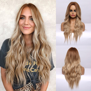 Long Wavy Brown to Blonde Ombr