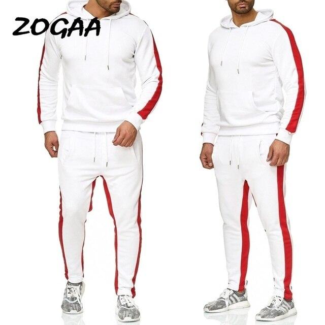 ZOGAA 2019 Men Jogging Hoodie Sweatpants Set Casual Male Pullover Sweat Hoodie + Pants Sports Men's Tracksuit 4