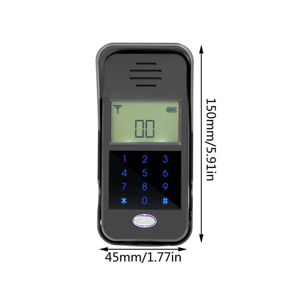 Купить с кэшбэком 2.4GHz Wireless Audio Doorbell Intercom System Non-visual Digital Waterproof IP55 Home Safe Security Monitor for Building