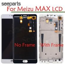شاشة عرض LCD جديدة 6.0 بوصة لـ Meizu M3 Max Meilan Max S685H + محول رقمي باللمس مع إطار أبيض/أسود اللون شحن مجاني