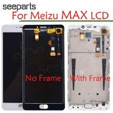 """Yeni 6.0 """"LCD Meizu M3 Max Meilan Max S685H LCD ekran ekran dokunmatik Digitizer ile çerçeve beyaz/Siyah renk ücretsiz kargo"""