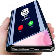 Smart Mirror Flip Phone Case For iPhone X XS MAX XR 5 5S E Clear View Smart Mirr