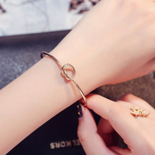 5/batch Gemini Name Bracelet Metal Jewelry Knot Cuff Opening Minimalist Bohemian Female Unique