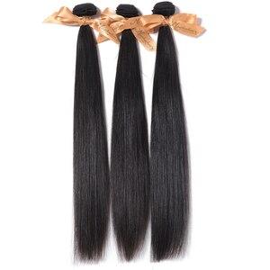 """Image 4 - Pelo lacio MOCHA de 8 """"  26"""" 10A, cabello virgen brasileño, Color Natural, 100%, extensión de cabello humano sin procesar, envío gratis"""