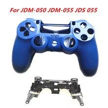 Para PS4 Pro JDM-050 JDM-055 JDS 055 JDS 050 controlador frente Carcasa Trasera caso de Shell con R1 L1 clave soporte marco interior
