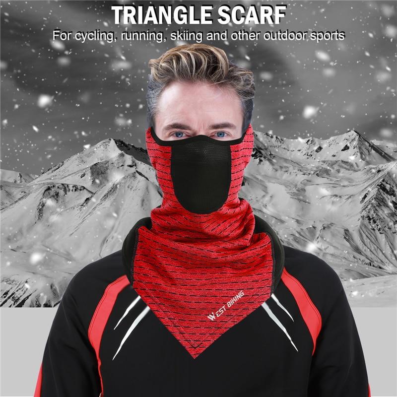 Ha4afb421ca6046bdbae38536c63559b6N WEST BIKING Winter Cycling Mask Fleece Thermal Outdoor Sports Facemask Bandana Headband Anti-UV Running Training Ski Face Mask
