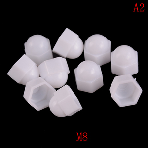 10pcs/set M6 M8 M10 M12 White Dome Bolt Nut Protection Caps Cover Hex Hexagon Nuts Cap Nuts Protection Cover Nuts