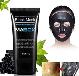 Image 1 - MABOX Bamboo Charcoal Black Mask Face Care Deep Cleansing Purifying Blackhead 3 Steps Black Head Remover Acne Nose Mask