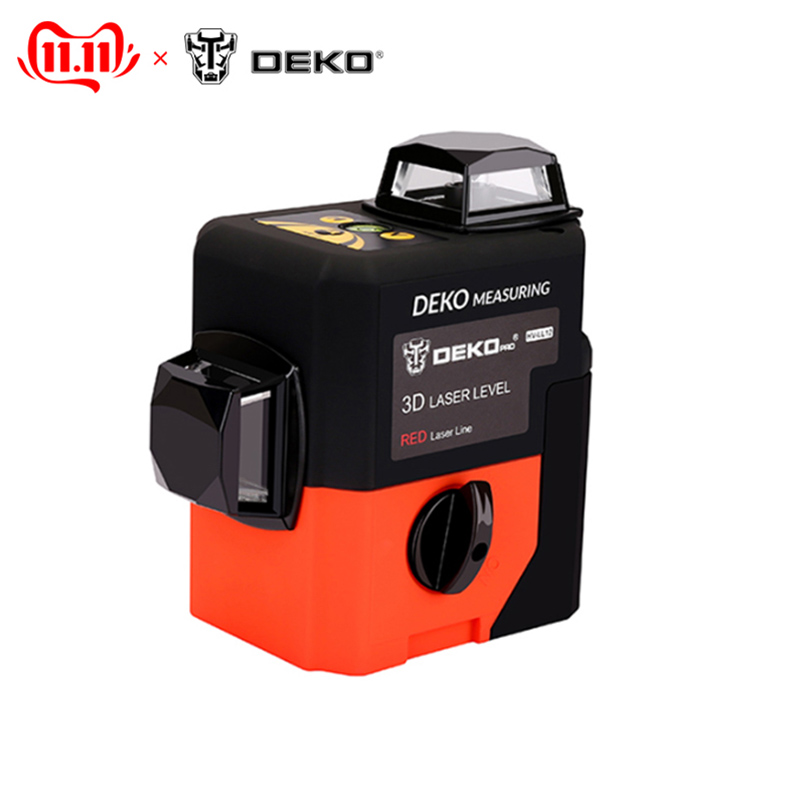 Distance meter Laser level DEKO HV-LL12R 3D (12 lines, red) super powerful 360 vertical and horizontal self-leveling