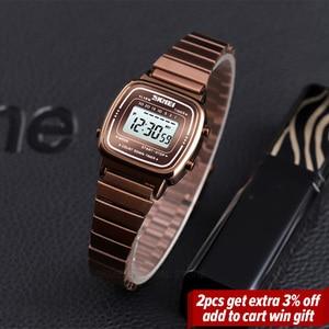 Image 2 - SKMEIแฟชั่นนาฬิกาผู้หญิงแบรนด์หรู 3Barกันน้ำสุภาพสตรีนาฬิกาขนาดเล็กDialนาฬิกาดิจิตอลนาฬิกาRelogio Feminino 1252