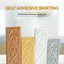 1/2/4pcs Edge Strip Decor Self-adhesive Wall Sticker Embossed Corner Line 2.3m 4cm Waterproof Border 3D Foam Wall Waist Line