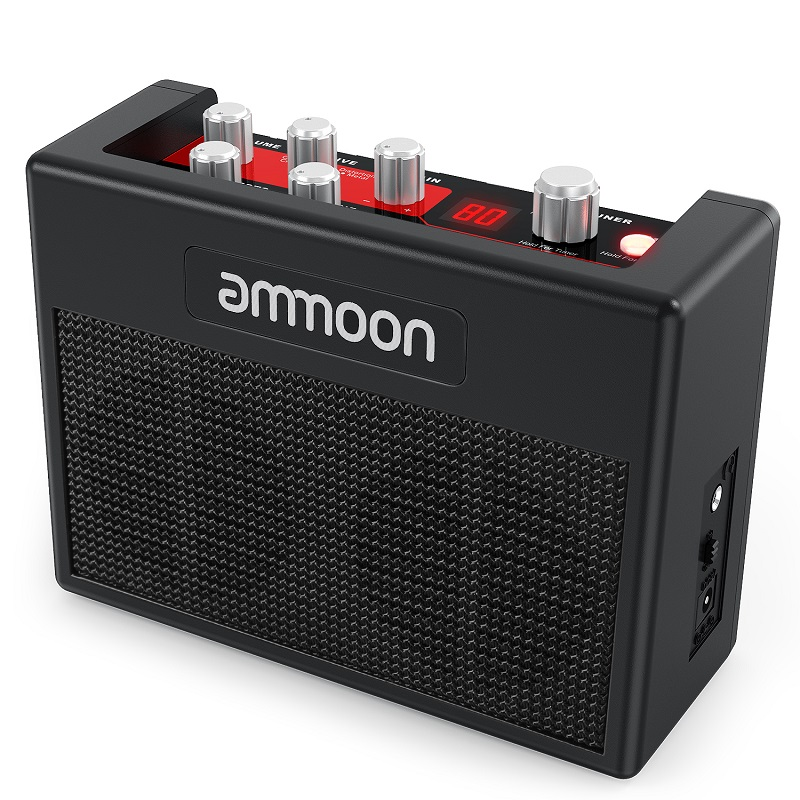 Ammoon POCKAMP Guitar Amplifier Built-in Multi-effects 80 Drum Rhythms Support Tuner Tap Tempo Function With Power Adapter